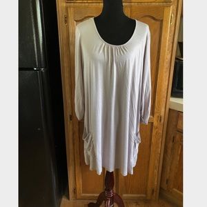 Logo Light Purple Tunic Top with Pockets XL